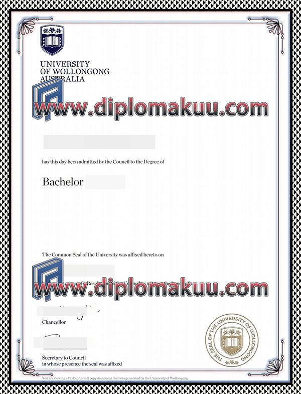 伍伦贡大学文凭购买
