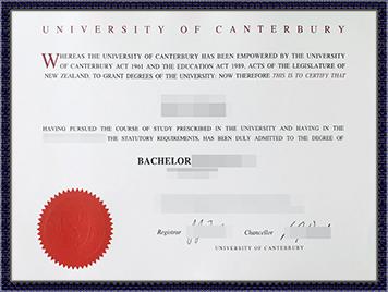 办理坎特伯雷大学文凭
