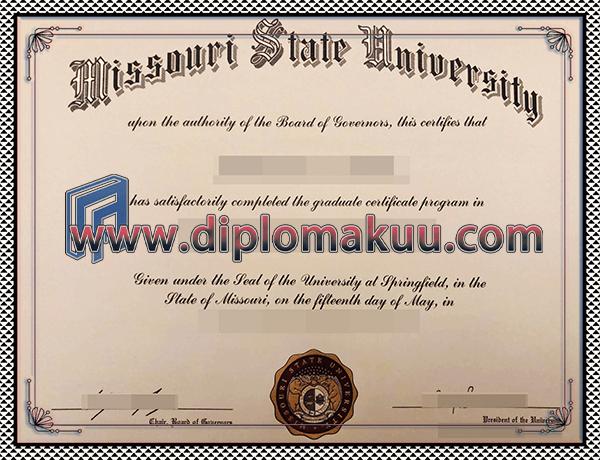 购买密苏里州立大学文凭